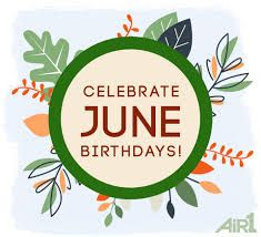 Wishing all June birthdays a blessed one