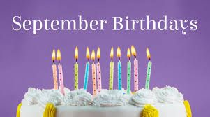 Happy birthday all born in  September
